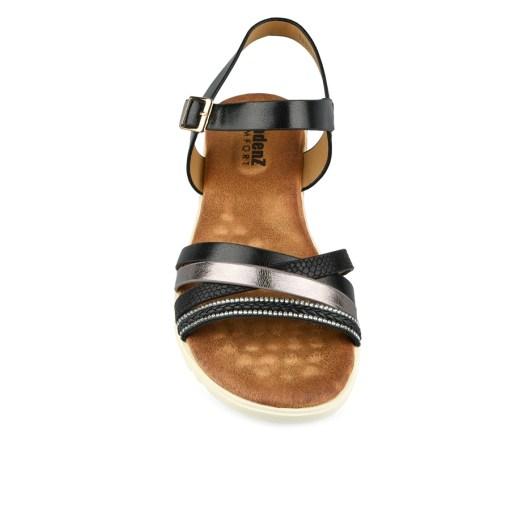 Дамски сандали 21-100-6 цвят златно и черно
