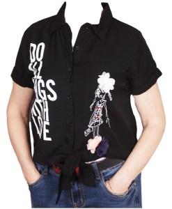 Дамска блуза 0019-561-5 цвят черен