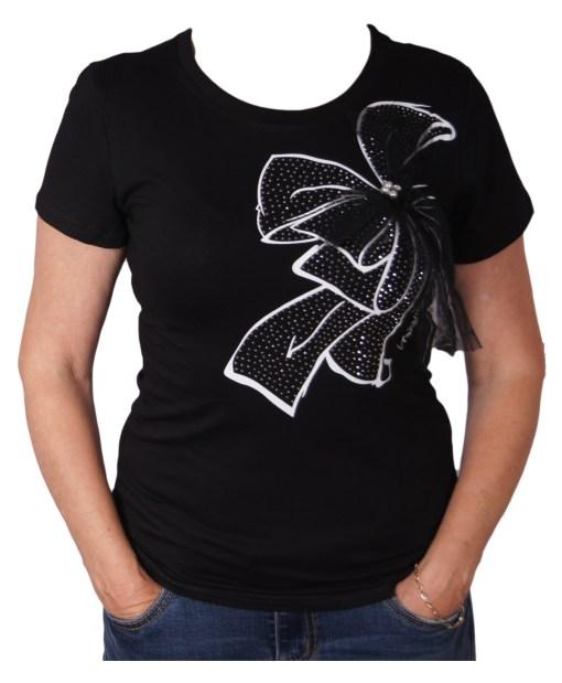 Дамска блуза 01-208-4 цвят черен
