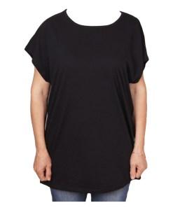 Дамска макси блуза XL 21-095-5 цвят черен