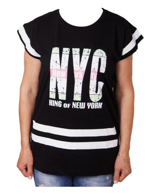 Дамска блуза 0019-558-8 цвят черен