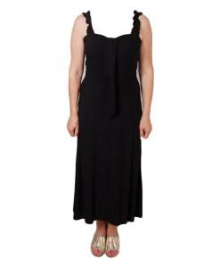 Дамска рокля 017-191-3 цвят черен