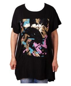 Дамска блуза 0019-558-6 цвят черен