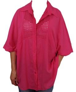 Дамска макси блуза XL 21-093-2 цвят циклама