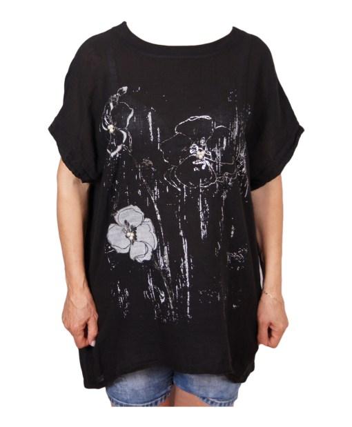 Дамска макси блуза XL 21-093-75 цвят черен