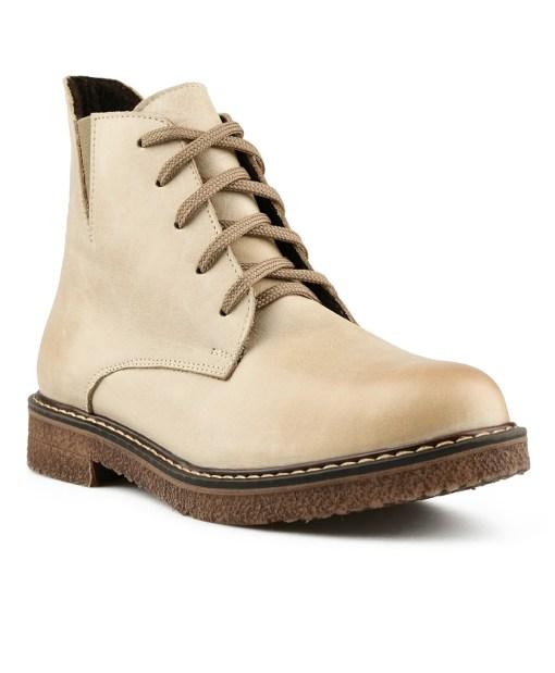 Дамски обувки естествена кожа 08-177-3цвят екрю