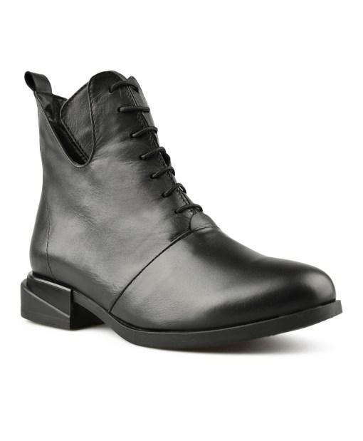 Дамски обувки естествена кожа 08-177-4 цвят черен