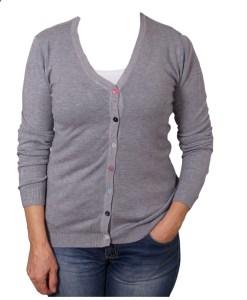Дамска жилетка 20-098-4 цвят сив