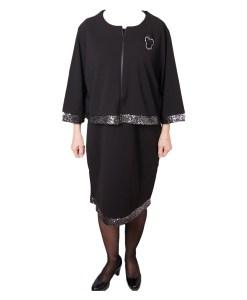 Дамска рокля XL 18-189-8 цвят черен