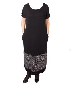 Дамска рокля XL 18-189-7 цвят черен