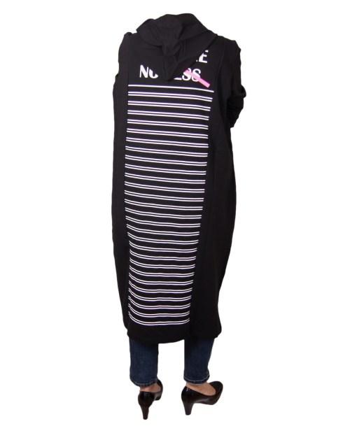 Дамска рокля XL 18-189-1 цвят черен