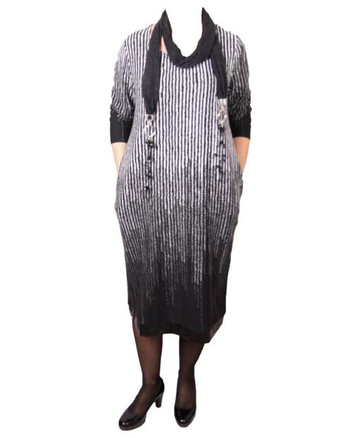 Дамска рокля XL 18-189-4цвят черен