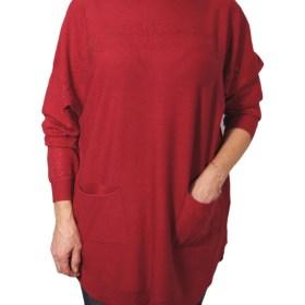 Дамска блуза XL 01-091-3 цвят червен