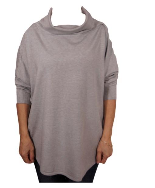Дамска блуза XL 01-093-2 цвят сив