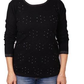 Дамски пуловер 2-386-11 цвят черен