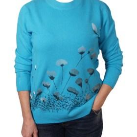 Дамска блуза XL 01-092цвят син