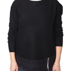 Дамски пуловер 2-386-21 цвят черен