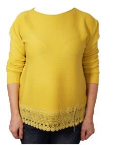 Дамски пуловер 2-386-23 цвят горчица