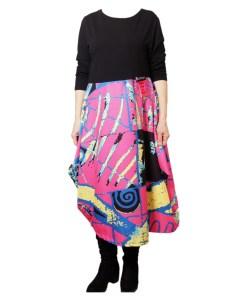 Дамска рокля 017-190-1 цвят черен