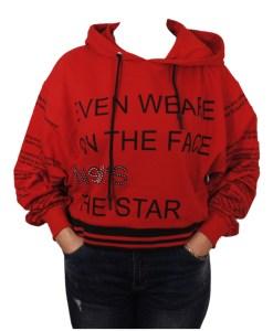 Дамска блуза 00-571-23 цвят червен