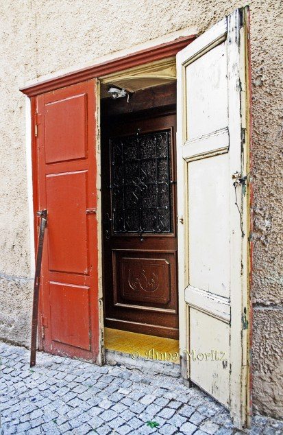 some doors are doubled from the inside with more modern and stable ones