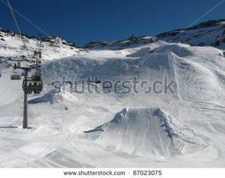 Ischgl snow park , Austria, once