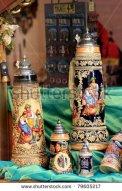 stock-photo-painted-beer-mugs-at-souvenir-shop-display-innsbruck-austria-79605217