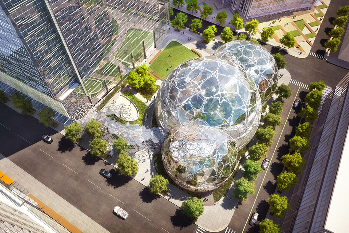 Amazon's spherical greenhouse; The Spheres