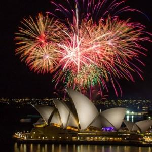 Feuerwerk vor dem Opernhaus in Sydney