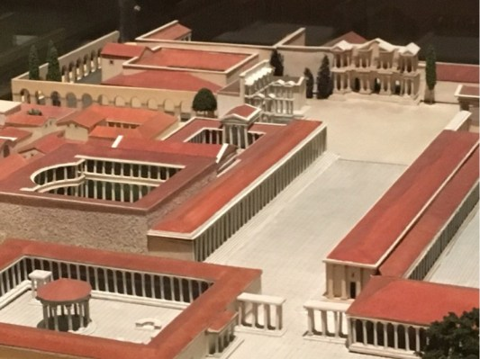 Market Gate located in a model of Miletus