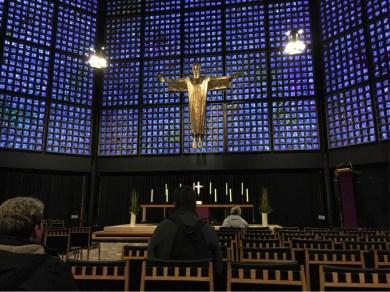 Kaiser Wilhelm Church Alter and Christ figure