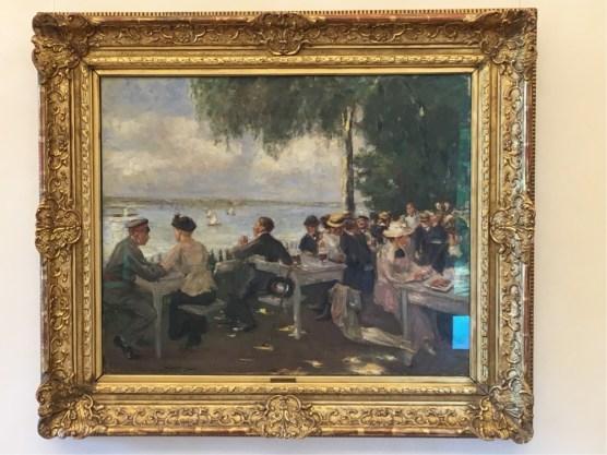 Max Liebermann, Garden cafe on the Havel - Nikolskoe, 1916