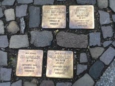 Memorial 'stones' in the pavement 2