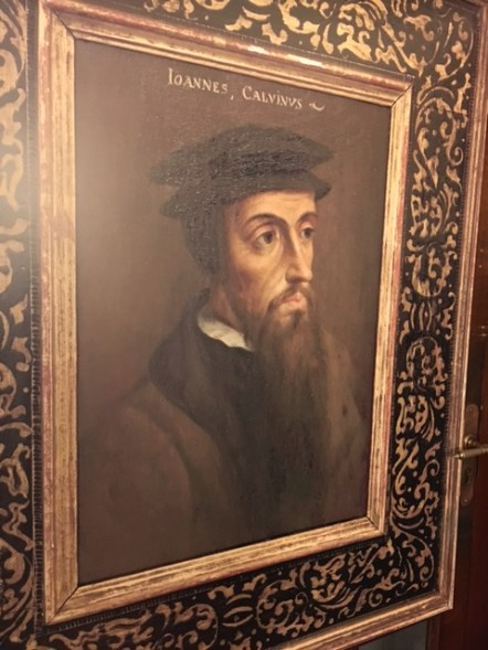 John Calvin, the key Reformer behind the Huguenot refugees.