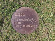 Marker of five persons who'attempted escape'.