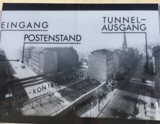 Entrance and exit of one of the tunnels.