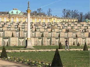 sans Souci Schloss with its tiered gardens.