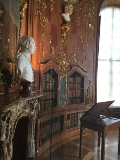 Sanssouci Library through the door.