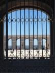 Looking through the Palacio Real Courtyard towards the Hills