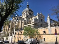 The Madrid Cathedral, directly opposite the main entrance to the Palacio Real.