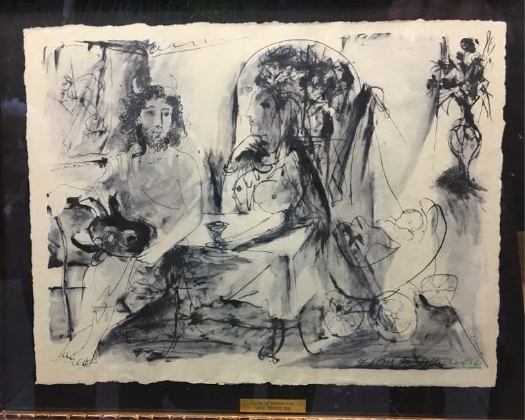 A Picasso sketch print for sale