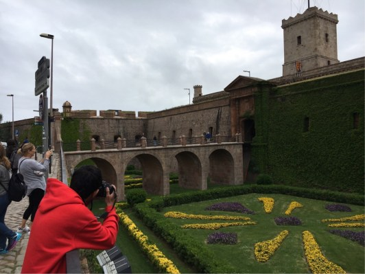 The Fort on Montjuic - which carries centuries of bad associations for Barcelonian citizens