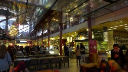 Upstairs is similar to a food court