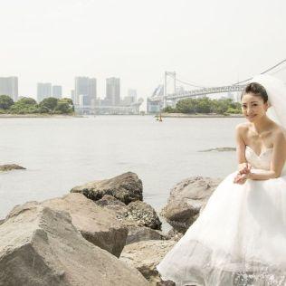 ウエディング写真 レインボーブリッジ ロケ撮影/annaphoto