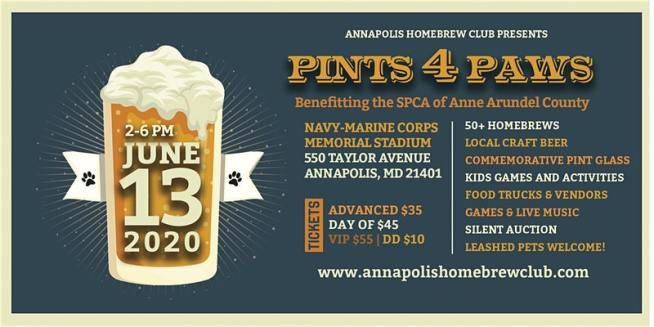 Pints 4 Paws Banner