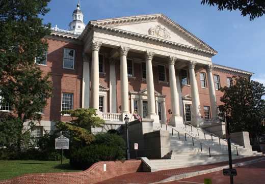 Maryland State House  City of Annapolis Maryland MD