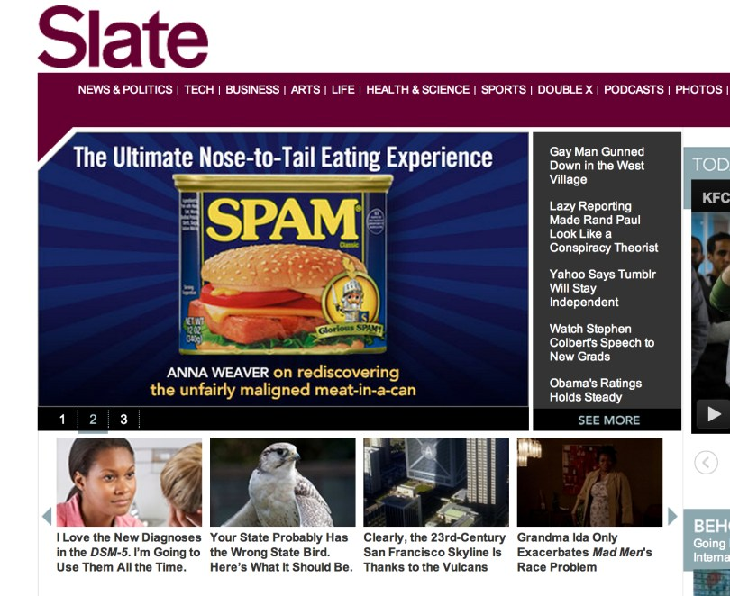 The cover of Slate, May 20, 2013