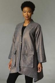 KTilton Metallic Houndstooth Coat
