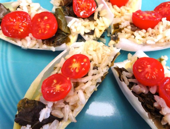 Fresh Endive with Rice and Greens