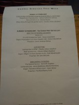 Guildford Cathedral service sheet for 'Come unto me' premiere on 19 February 2012